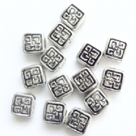 40 Tibetan Silver 7mm Spacer Beads